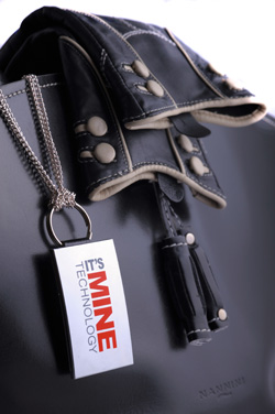 Black bag with mirror tag